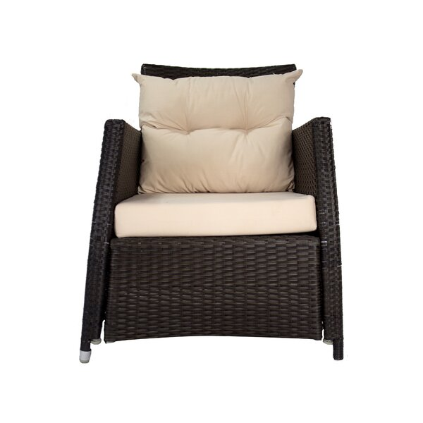 Jimena Patio Chair with Cushion by Longshore Tides