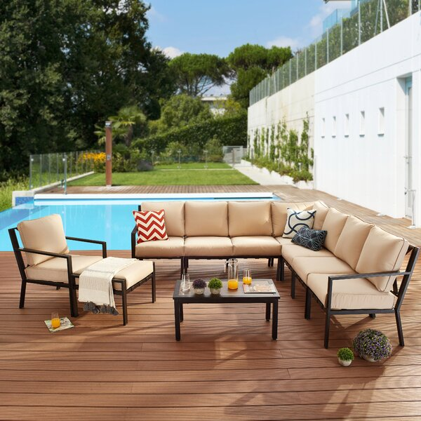 Dakin 10 Piece Sectional Seating Group with Cushions by Red Barrel Studio