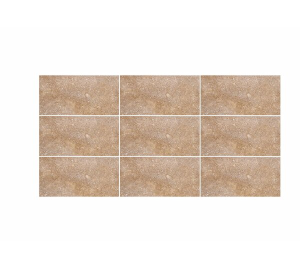 Tumbled 3 x 6 Travertine Field Tile in Noce by Parvatile