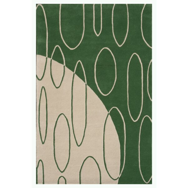 Aria Green Shag Area Rug by Noble House