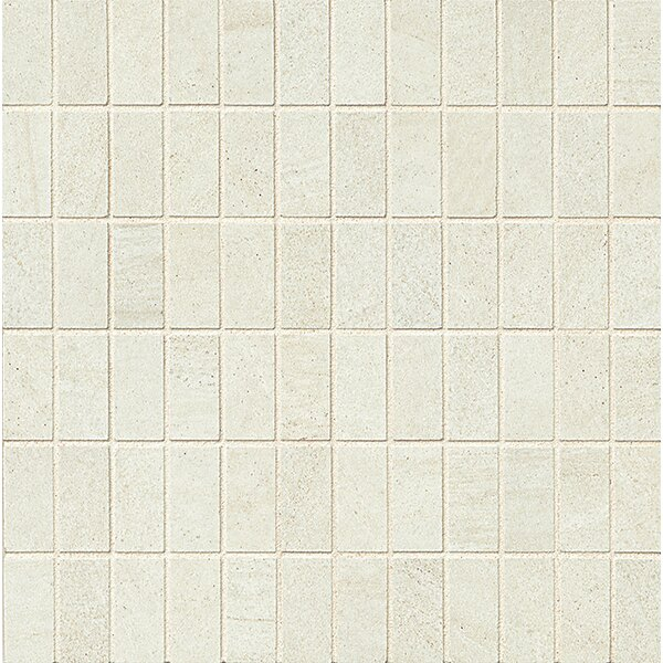 Purestone 1 x 2 Porcelain Mosaic Tile in Bianco by Bedrosians