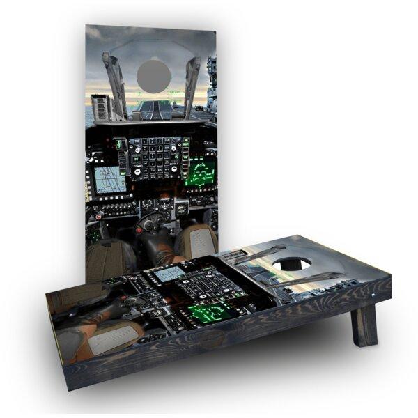 Cockpit Cornhole Boards (Set of 2) by Custom Cornhole Boards