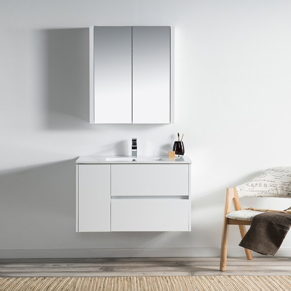 Oquendo 36 Wall-Mounted Single Bathroom Vanity Set with Medicine Cabinet by Orren Ellis