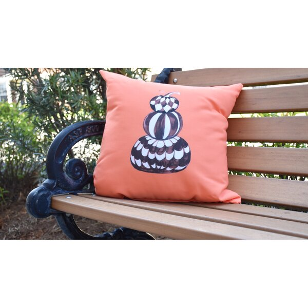 Maser Pumpkin Stack Halloween Outdoor Throw Pillow by The Holiday Aisle
