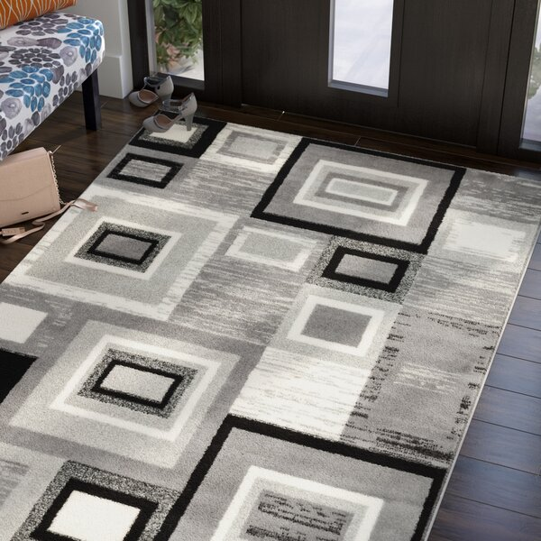 Ayala Gray/Cream Area Rug by Ebern Designs