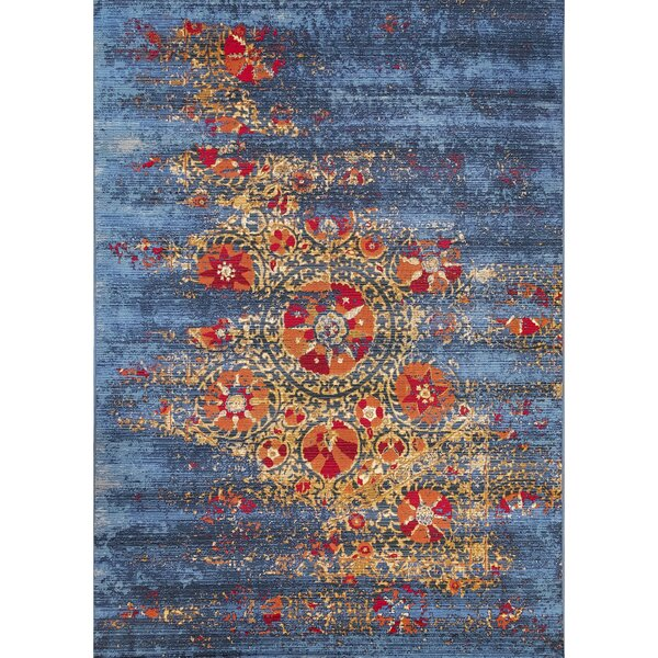Michaella Suzanie Blue Indoor/Outdoor Area Rug by World Menagerie