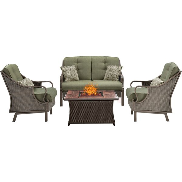 Sherwood 4 Piece Sofa Set with Cushions by Three Posts