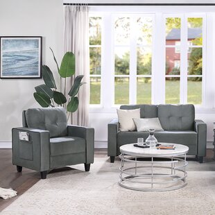 Sofa Set Morden Style Couch Furniture Upholstered Armchair by Latitude Run®