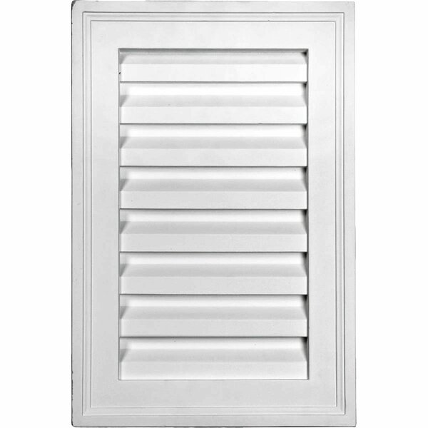 16H x 12W Vertical Gable Vent Louver by Ekena Millwork