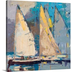 Breeze, Sail and Sky by Beth A. Forst Painting Print on Wrapped Canvas by Great Big Canvas