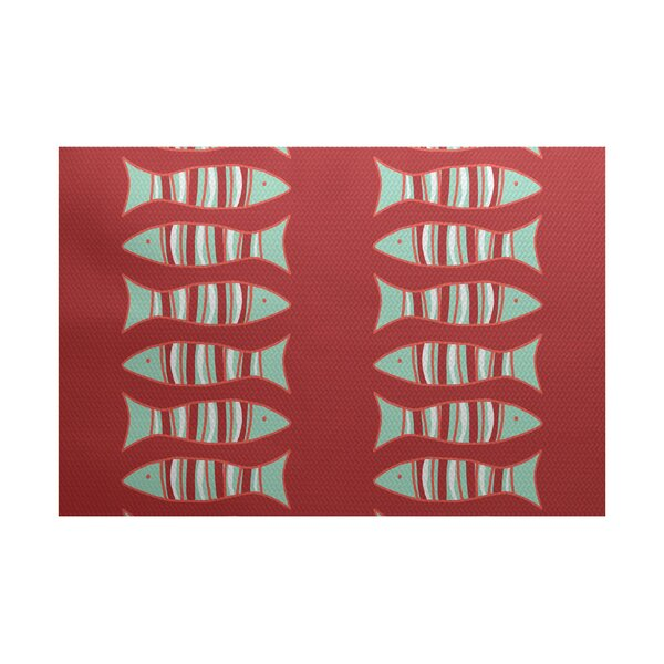 Grand Ridge Coral Indoor/Outdoor Area Rug by Bay Isle Home