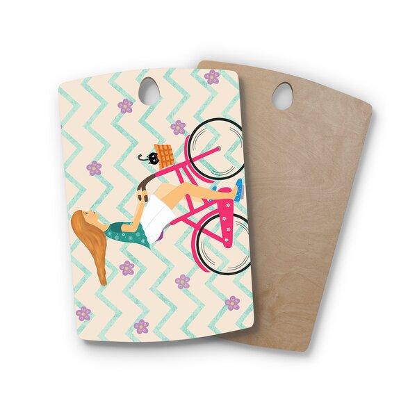 Cristina Bianco Design Birchwood Design Bicycle Ride Cutting Board by East Urban Home