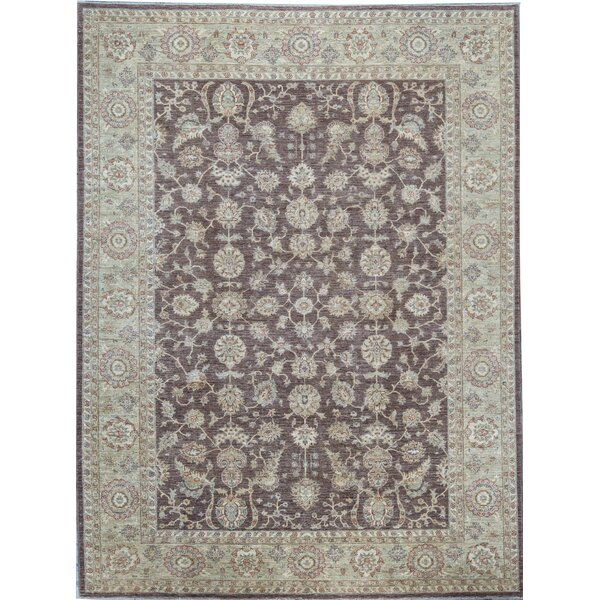 Ziegler Oriental Hand-Knotted Wool Brown/Green Area Rug