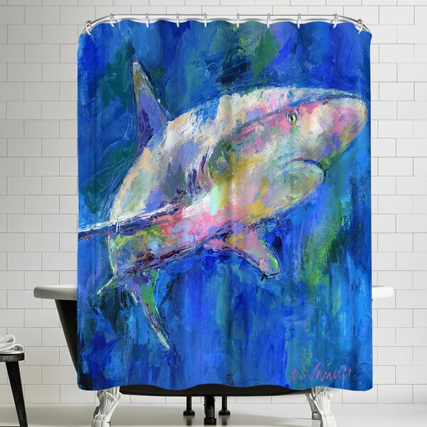 Richard Wallich Shark Shower Curtain by East Urban Home