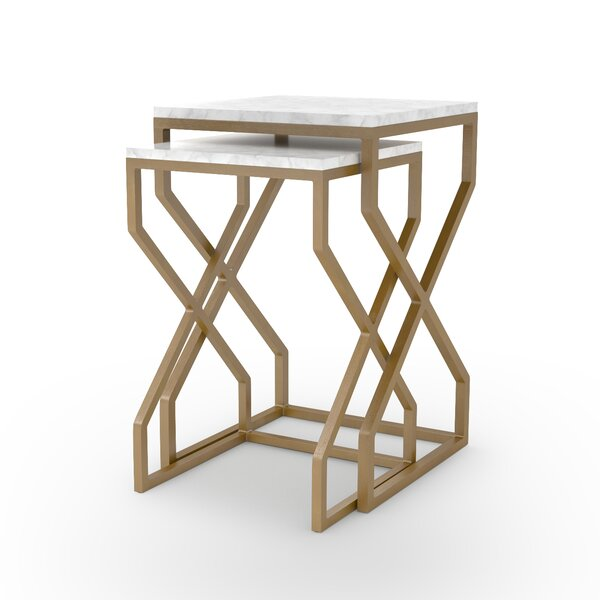 Agate Cove 2 Piece Nesting Tables by Bungalow Rose