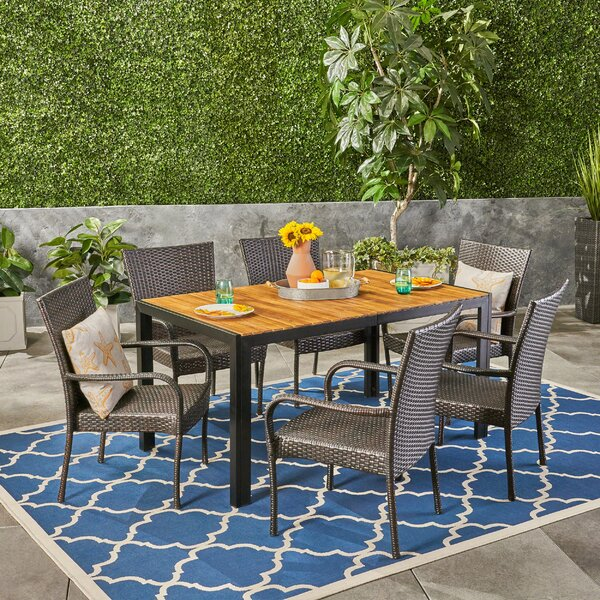 Monreal Outdoor 7 Piece Dining Set by Gracie Oaks