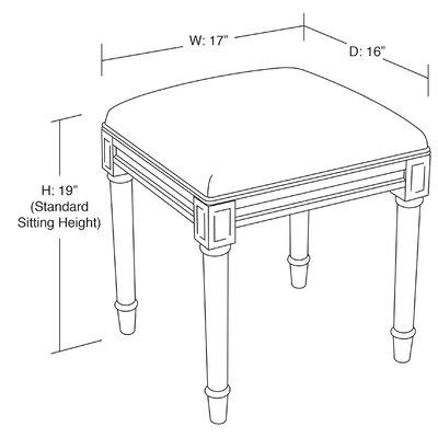 Fine 123 Creations Initials And Monogram Vanity Stool Creativecarmelina Interior Chair Design Creativecarmelinacom