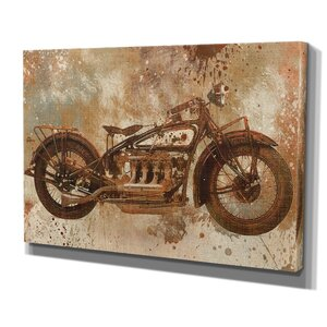 Live to Ride V by Carol Robinson Graphic Art on Wrapped Canvas by Wexford Home