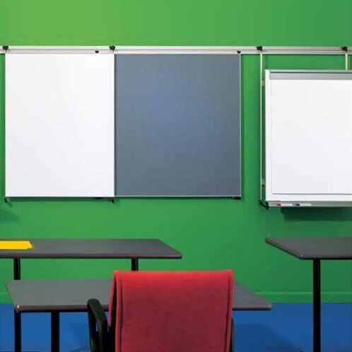 Tactics Plus® Wall Mounted Whiteboard, 42 x 96 by Peter Pepper