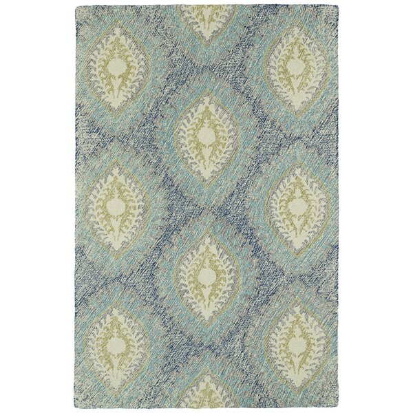 Locust Grove Hand-Tufted Wool Blue Area Rug by Bungalow Rose
