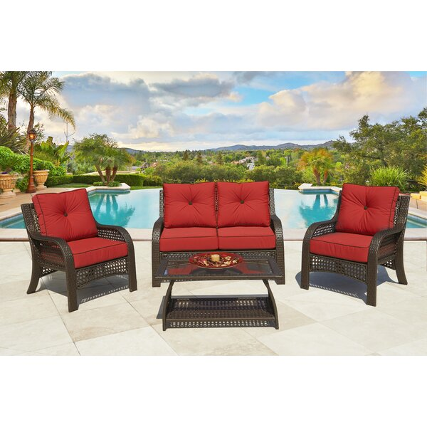 Cassimere 4 Piece Sofa Seating Group with Cushions by Alcott Hill