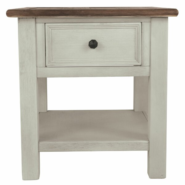 Northwoods End Table With Storage By Loon Peak