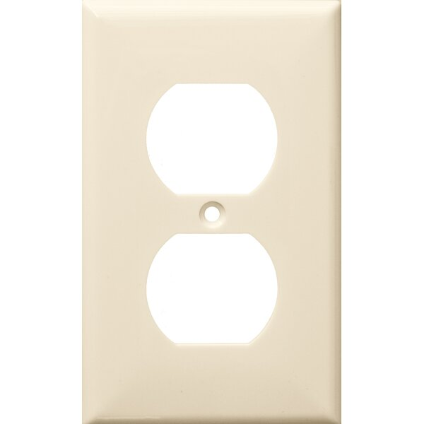 1 Gang Duplex Lexan Receptacle Wall Plates in Almond by Morris Products