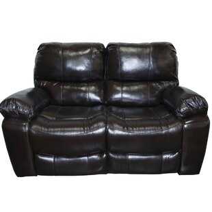 Carraton Modern Leather Reclining Loveseat Three Posts