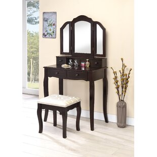 Purchase Lizbeth Vanity Set with Mirror By Charlton Home
