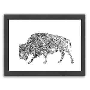 Buffalo Framed Painting Print by East Urban Home