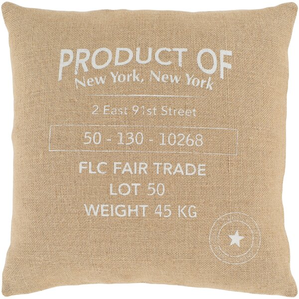 Circa Wheat Throw Pillow by Surya