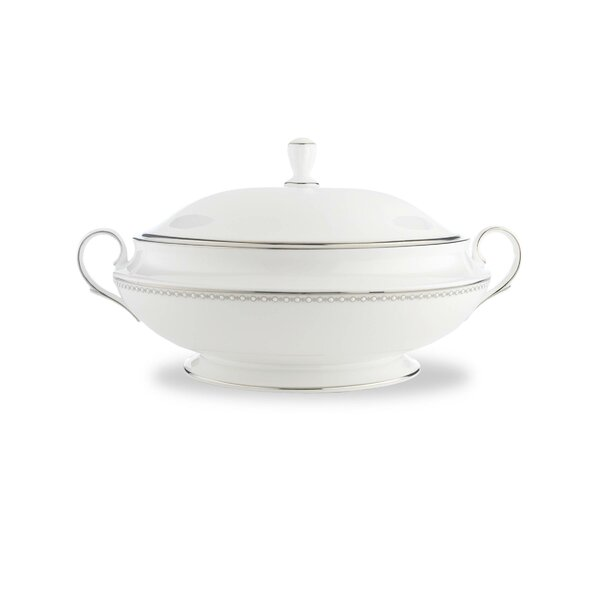 Pearl Platinum 64 oz. Covered Vegetable Bowl by Lenox