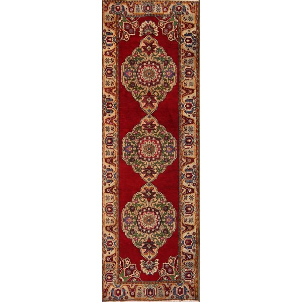One-of-a-Kind Kirkpatrick Turkish Oriental Hand-Knotted Wool Beige/Ivory Area Rug by Bloomsbury Market