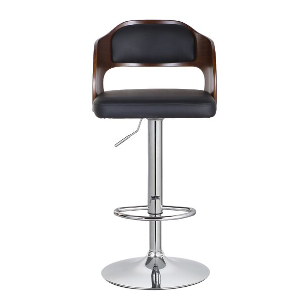 Philip Adjustable Height Swivel Bar Stool by Corrigan Studio