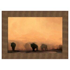 Southwest at Dusk Framed Painting Print by PTM Images