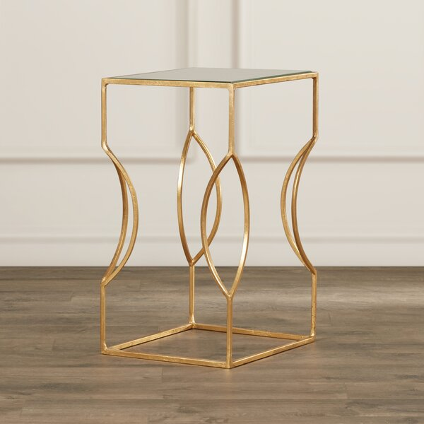 Rex Glass Top Sled End Table by Willa Arlo Interiors Willa Arlo Interiors