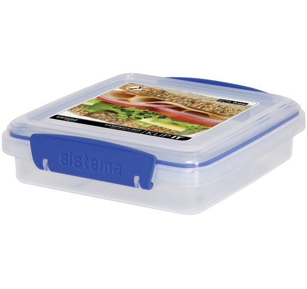Klip It Sandwich Box 15.2 Oz. Food Storage Container by Sistema USA