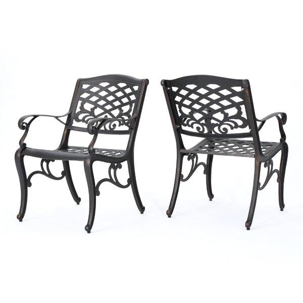Brainerd Outdoor Patio Dining Chair (Set of 2) by Fleur De Lis Living