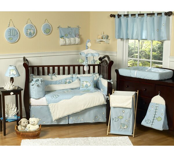 Go Fish 9 Piece Crib Bedding Set by Sweet Jojo Designs