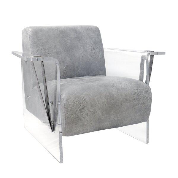 Elezanga Modern Lucite Swivel Armchair by Pasargad