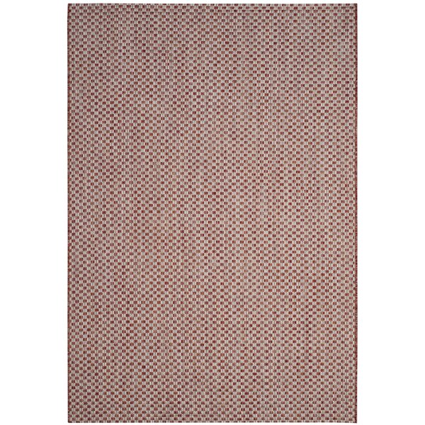 Brodie Rust/Light Gray Outdoor Area Rug by Langley Street