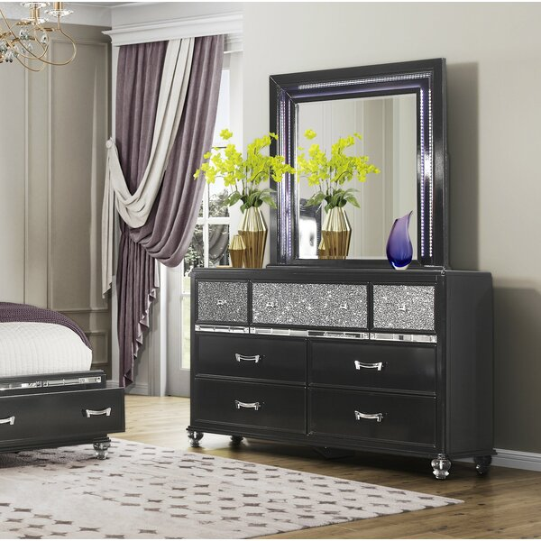 Farquhar 7 Drawer Dresser with Mirror by Everly Quinn