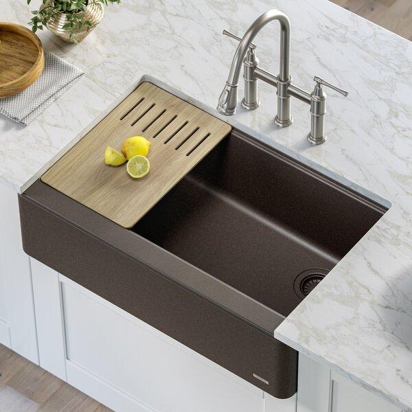 Bellucci 33 L x 21 W Farmhouse Kitchen Sink