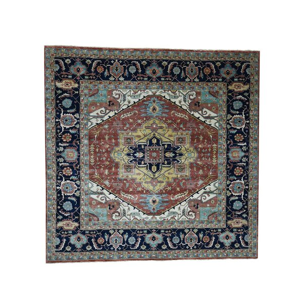 One-of-a-Kind Newcastle Re-Creation Oriental Hand-Knotted Red Area Rug by Astoria Grand