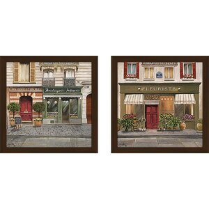 French Store II' 2 Piece Framed Acrylic Painting Print Set Under Glass by Ophelia & Co.