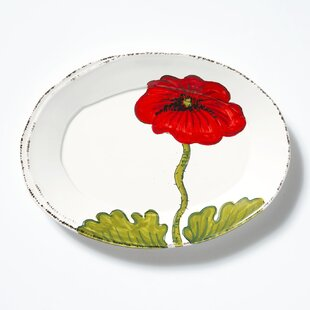 Lastra Poppy Small Oval Decorative Plate & Small Decorative Plates | Wayfair