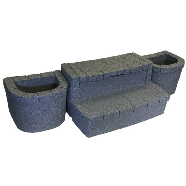 Deluxe Storage Step with Planters by AquaRest Spas