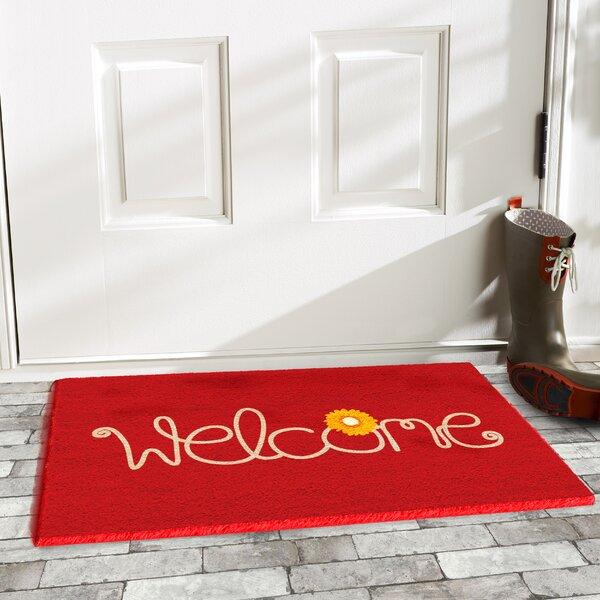 Krogman Flower Welcome Doormat by Winston Porter
