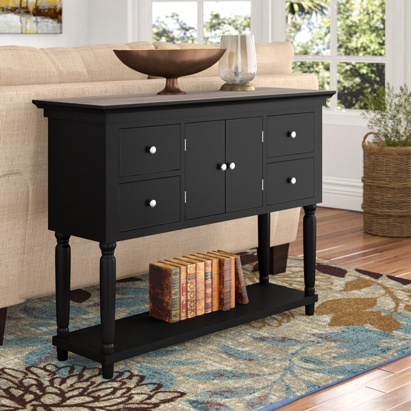 Delvalle 4 Drawer Console Table by Charlton Home