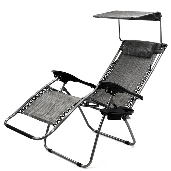 Sunshade Reclining Zero Gravity Chair with Cushion by Freeport Park Freeport Park
